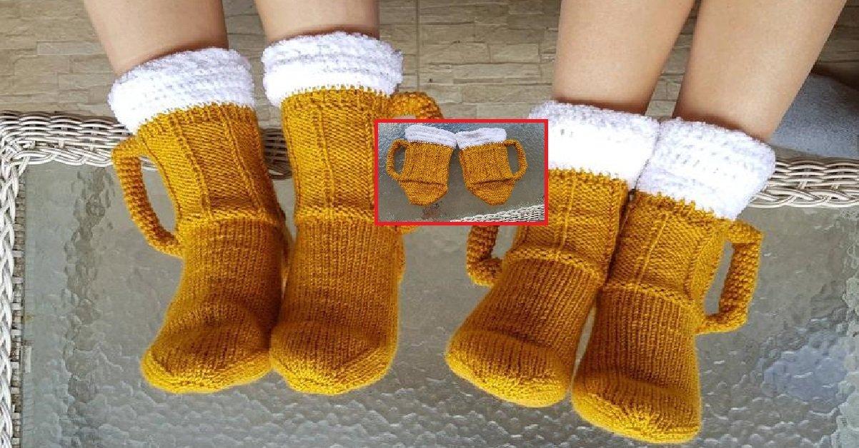 """1 160.jpg?resize=412,232 - On a déniché pour vous: la paire de chaussettes """"chopes de bière"""" pour trinquer avec les pieds"""