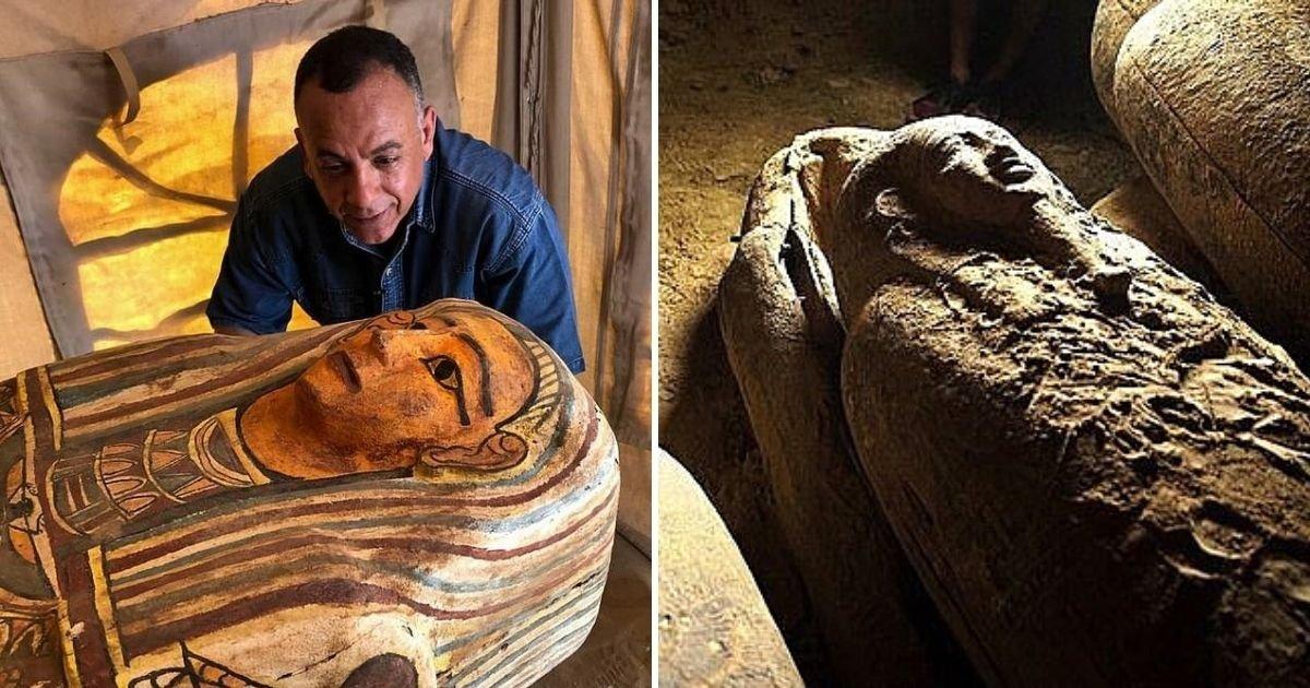 1 191.jpg?resize=412,232 - Descubrieron 27 Sarcófagos De Hace Más De 2.500 Años En Un Pozo Funerario En Egipto