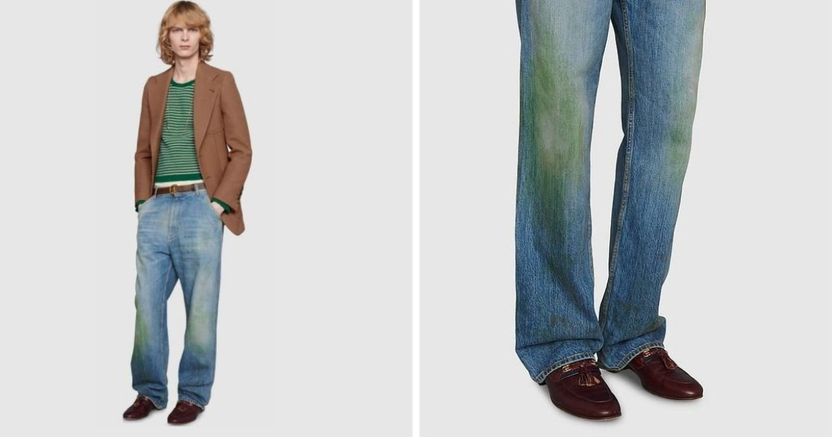 1 197.jpg?resize=1200,630 - Gucci Is Selling $800 Denim With Fake Grass Stain Effect