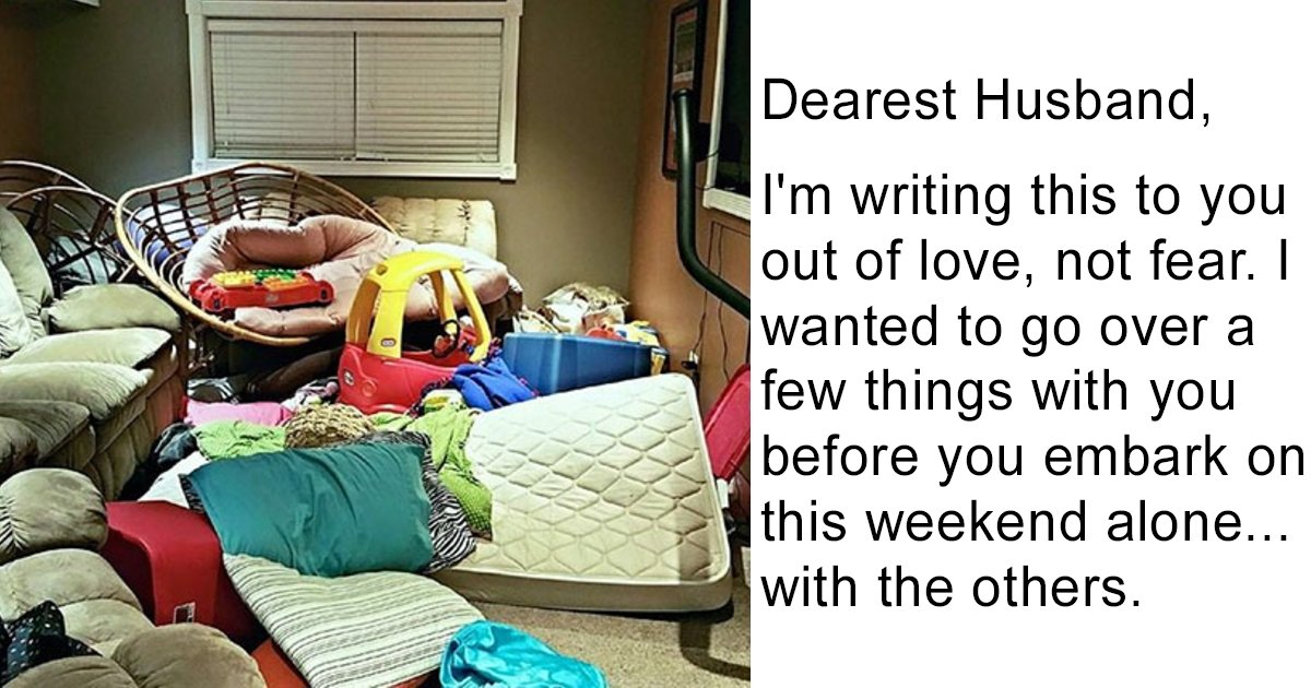 1 228 1.jpg?resize=1200,630 - Wife Writes Letter To Husband Before Leaving Him Alone With Kids For The Weekend