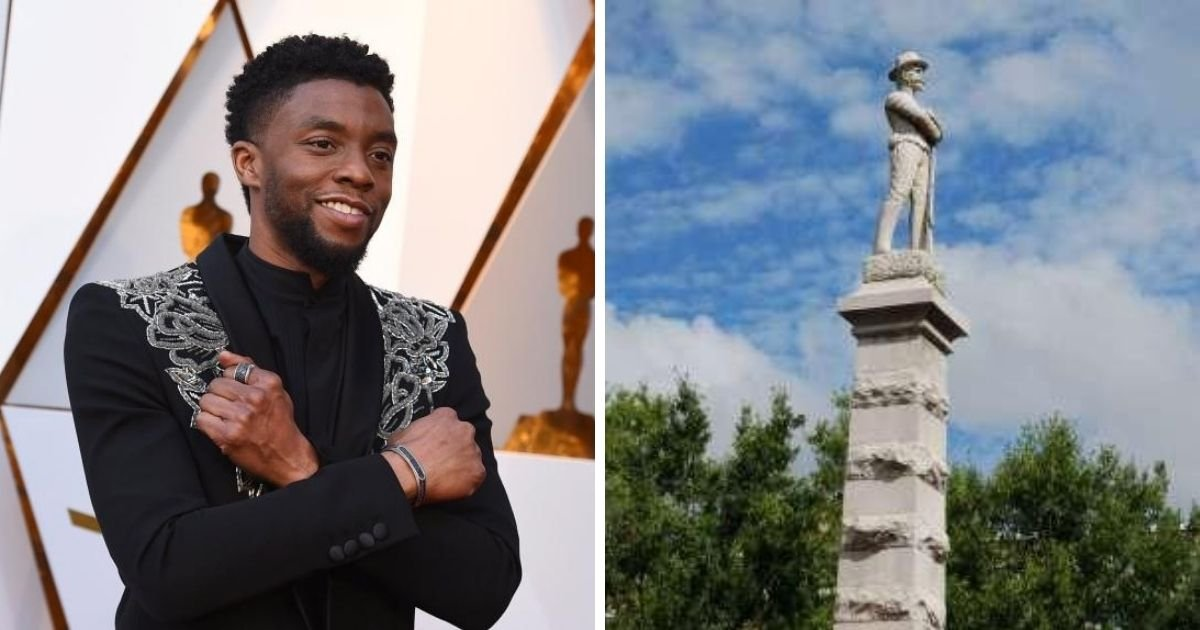 1 4.jpg?resize=1200,630 - Thousands Ask For A Statue Of Chadwick Boseman To Replace A Confederate Statue In His Hometown