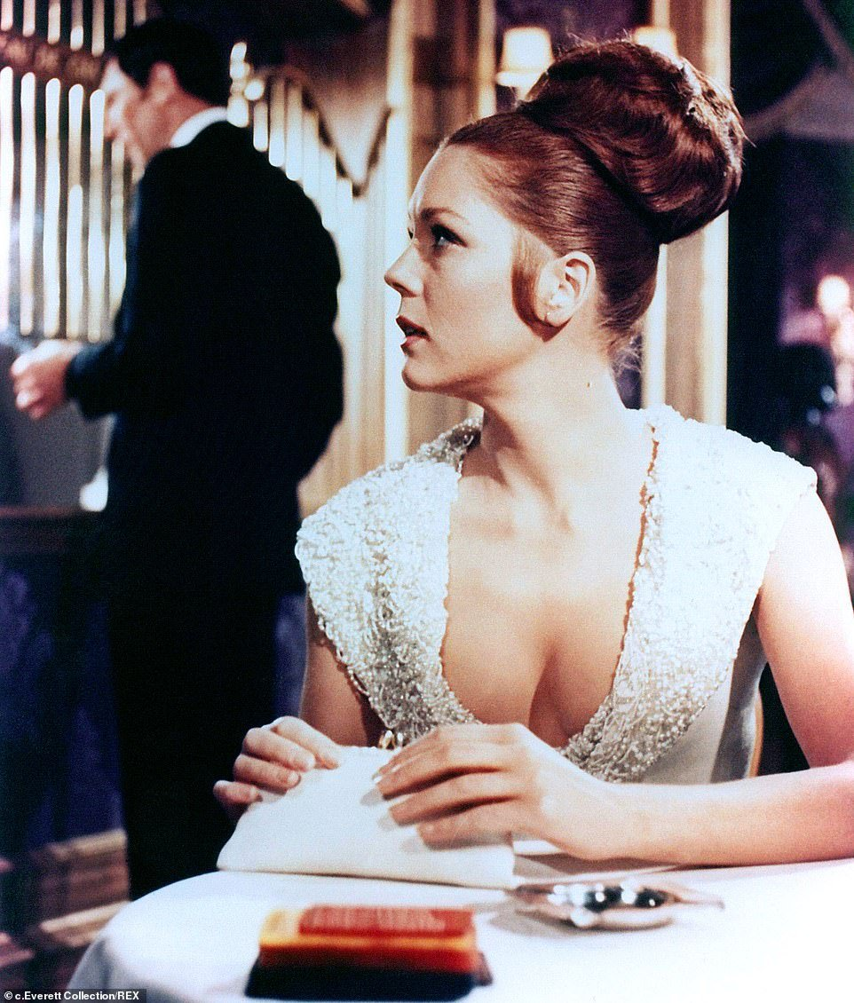 Rigg becamethe second Bond girl to marry 007 when she starred in James Bond