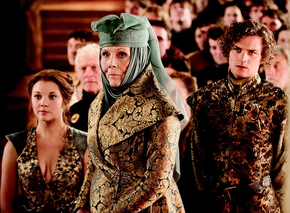 Diana Rigg as the cutthroat matriarch Oleanna Tyrell in HBO