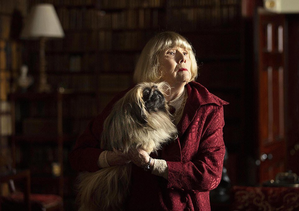 Dame Diana Rigg as Mrs Pumphrey, with Tricki Woo in the recent adaptation of All Creatures Great and Small, from James Herriot¿s collection of stories about life as a Yorkshire vet