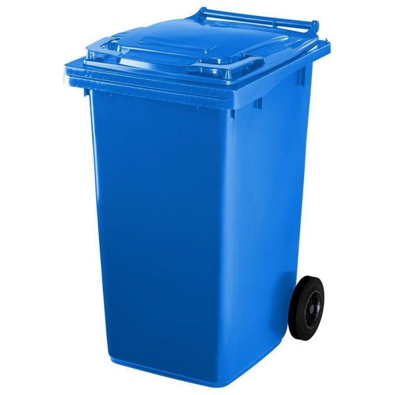 Contenedor basura 240 litros 2 ruedas cuerpo y tapa azul - Ferretería Campollano