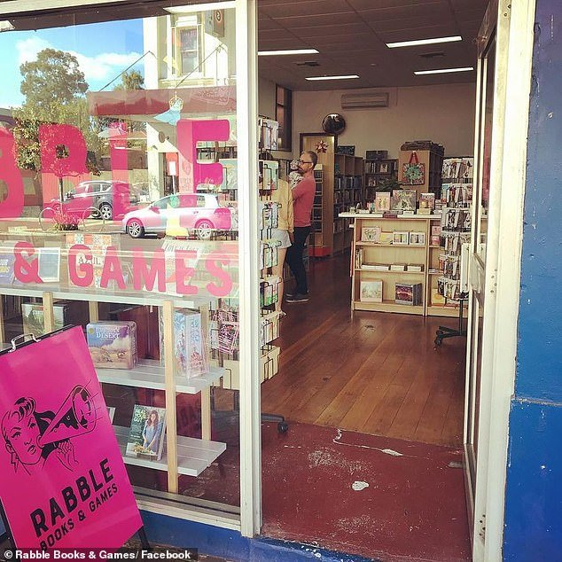 Rabble Books and Games in Western Australia (pictured) will cease stocking JK Rowling books, including titles under Rowling