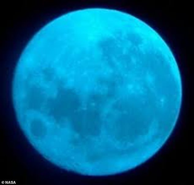 Our lunar neighbor will not shine blue, but the name is given because it is the second full moon to appear in the same month ¿ the first occurs October 1.The moon will not be blue unfortunately and it is safe to assume that pictures with the color were altered or shot with a special blue camera filter