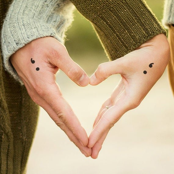 semicolon tattoo meaning