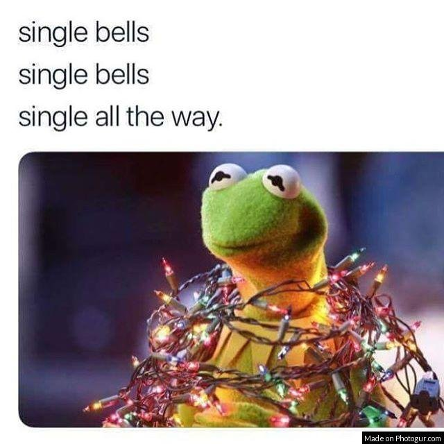 funny single Christmas meme