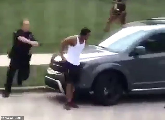 Video showed the moment Sheskey opened fire on Blake as he responded to a call from a woman who claimed Blake shouldn