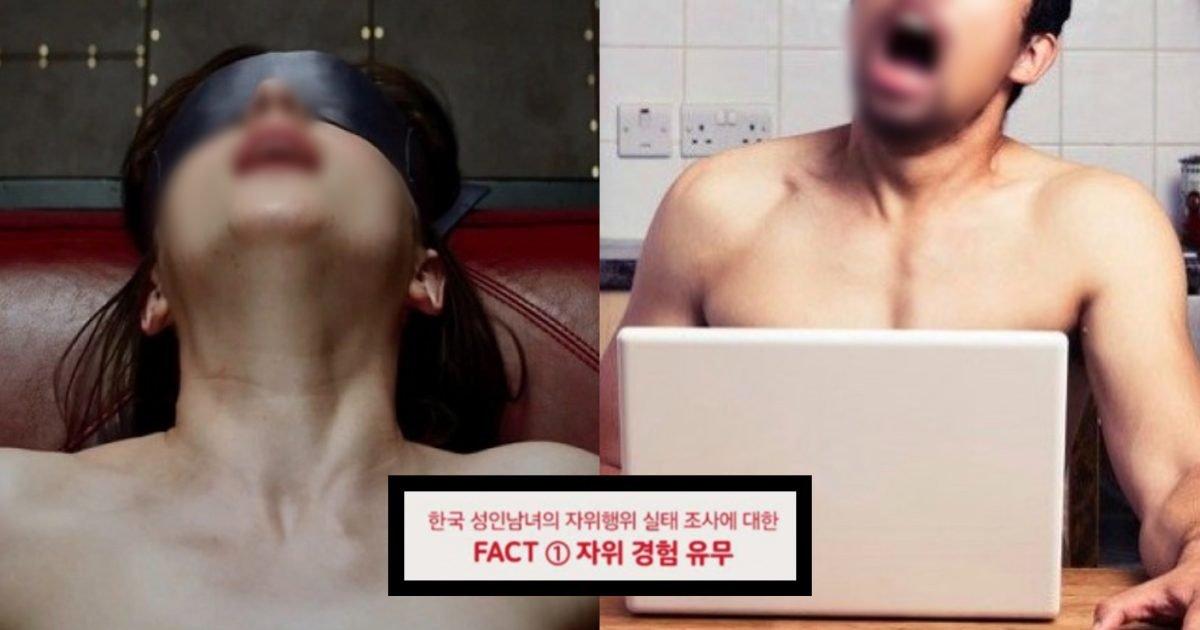 """86d53249 9e7d 4977 b551 82f92995f178 e1600940899163.jpg?resize=412,275 - """"남자는 95.7%, 과연 여자는?""""…한국 성인 남녀의 ㅈr위행위 경험 유무의 '충격적인' 결과.jpg"""