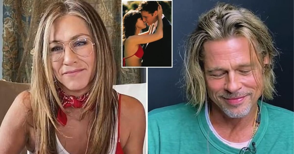 aniston5.jpg?resize=412,232 - Brad Pitt Looks Awkward As He And Ex-Wife Jennifer Aniston Recreate Scene From 'Fast Times At Ridgemont High'