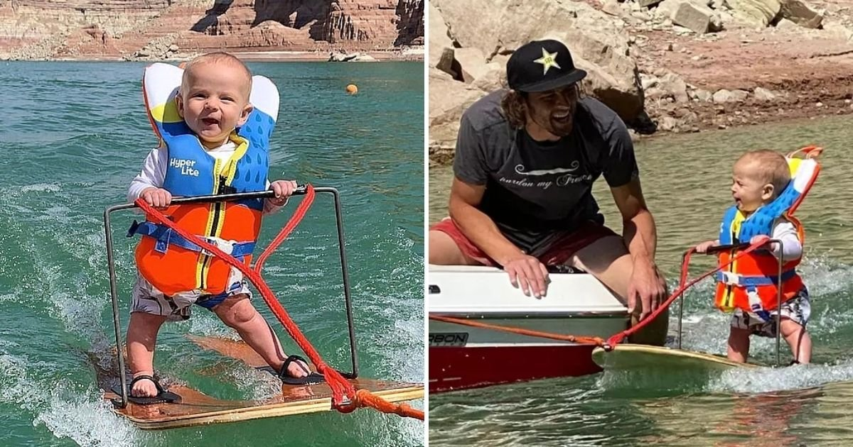 baby6 2.jpg?resize=412,232 - Video Of Water Skiing Baby Sparks Mixed Reactions On Social Media