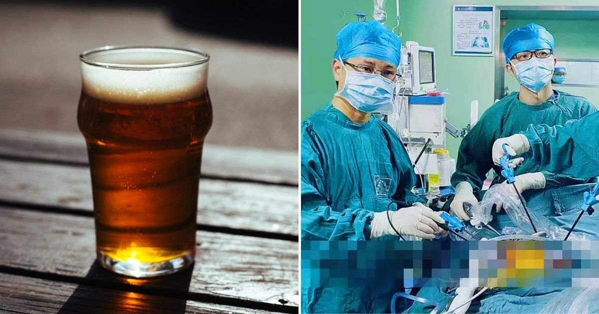 beer.jpg?resize=1200,630 - Man Needed Life-Saving Surgery After A Beer Glass Got Stuck In His Backside