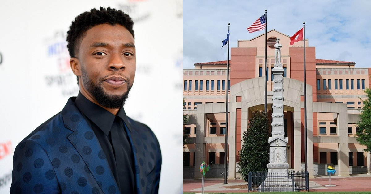 black panther.jpg?resize=412,232 - Fans Sign Petition To Replace Confederate Memorial With Chadwick Boseman's Statue