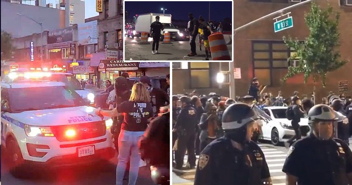 blm.jpg?resize=1200,630 - Over 100 BLM Protesters Violently Confront NYPD Officers Outside the 34th Precinct
