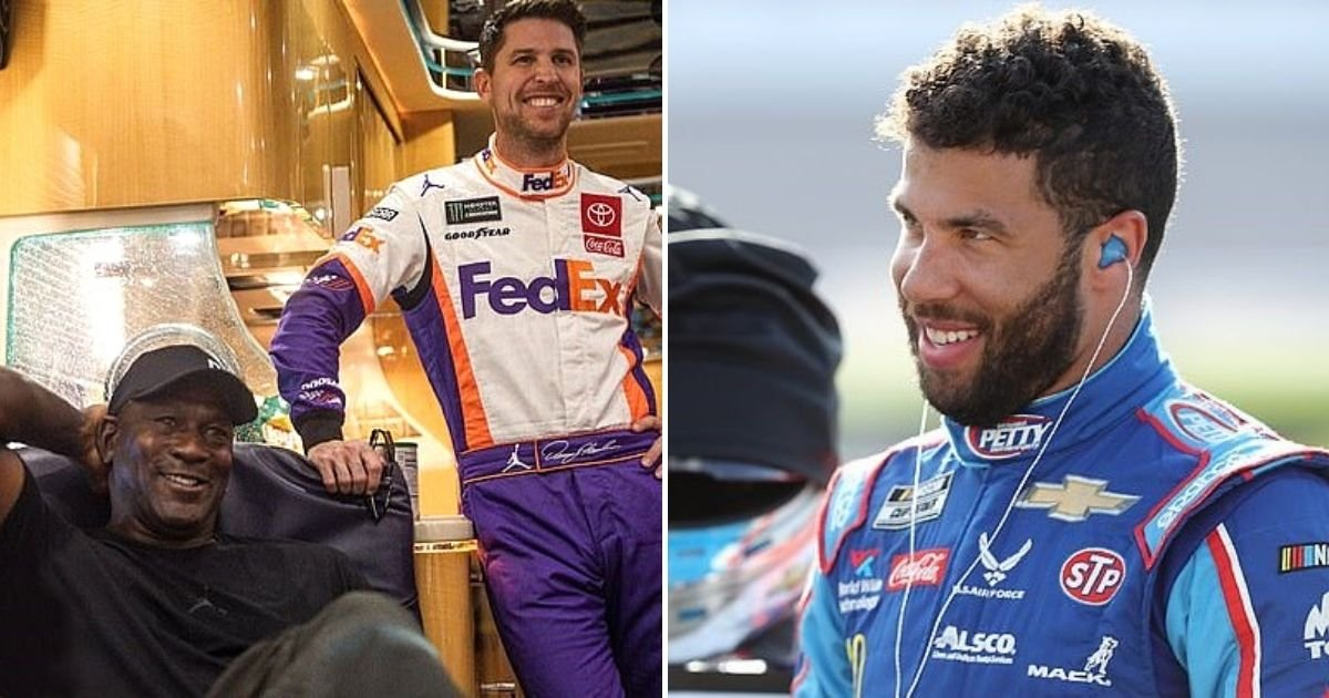 bubba4.jpg?resize=412,232 - Michael Jordan Launches New NASCAR Team With Denny Hamlin And Signs Bubba Wallace