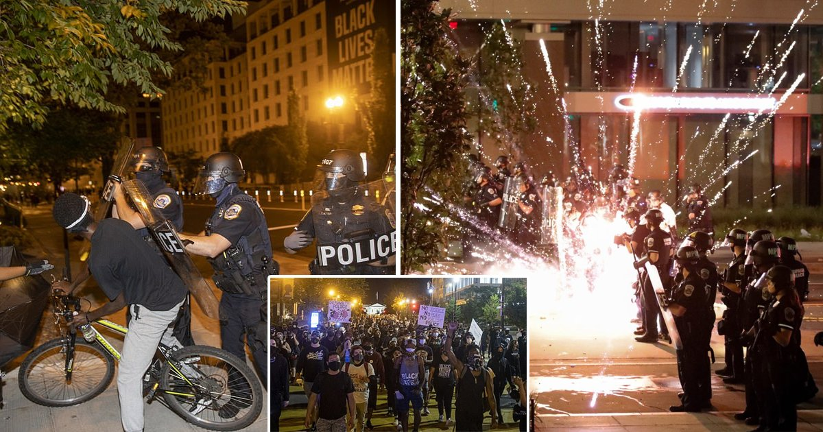 clash.jpg?resize=1200,630 - Police Clash With BLM Protestors Outside White House For A Second Night