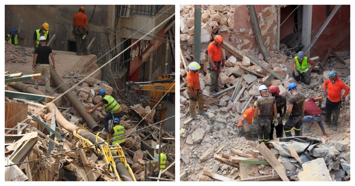 collage 16.jpg?resize=1200,630 - Rescue Team Identifies A Potential Heartbeat Under A Rubble One Month After Beirut Explosion