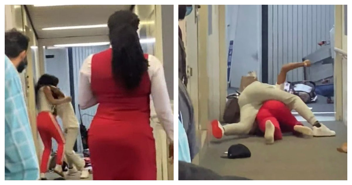 collage 3.jpg?resize=1200,630 - Two Women Engage In Physical Brawl On A Jet Bridge At LaGuardia Airport