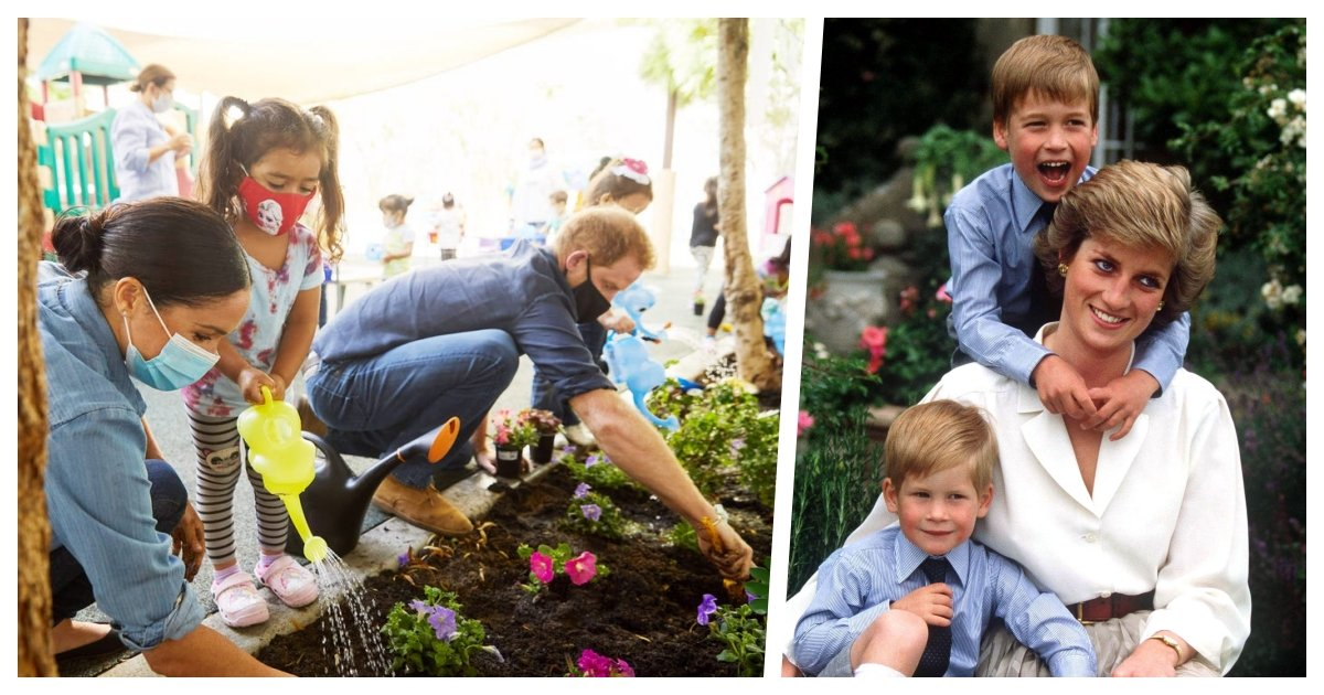 collage 4.jpg?resize=1200,630 - Harry and Meghan Remember Princess Diana By Planting Forget-Me-Nots