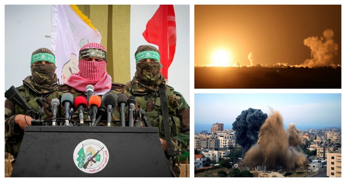 collage 42.jpg?resize=1200,630 - Tensions Rise in The Middle East As The Israeli Military and Hamas Trade Attacks