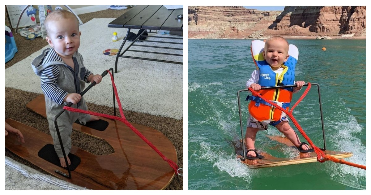 collage 62.jpg?resize=412,275 - 6-Month-Old Infant May Be The World's Youngest Water-Skier