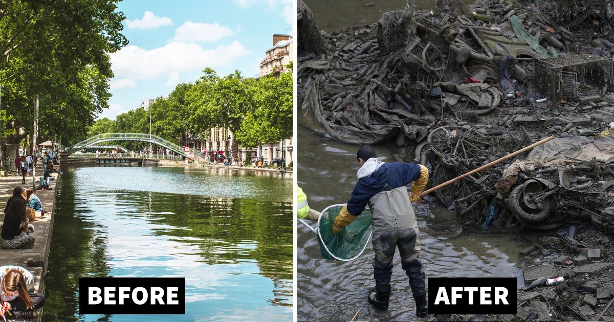 dfadf.jpg?resize=412,232 - The Paris Canal Drained - Here Are Some Of The Shocking Things Found While Draining