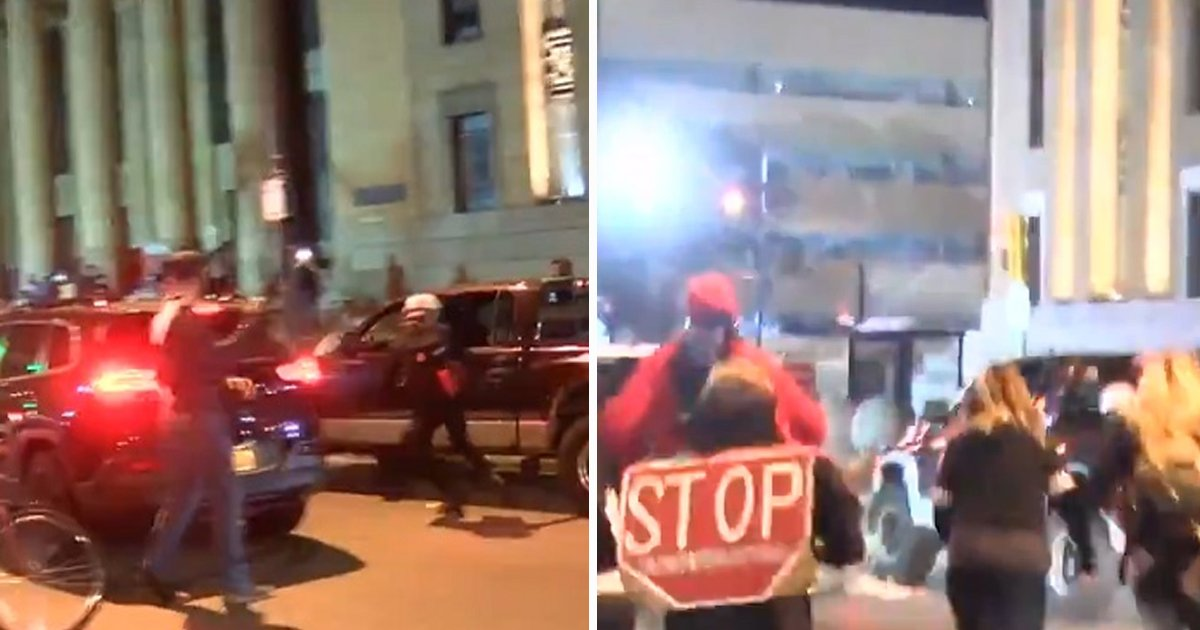 dfgdgd.jpg?resize=412,232 - Pickup Truck Brutally Runs Over Breonna Taylor Protesters In Buffalo