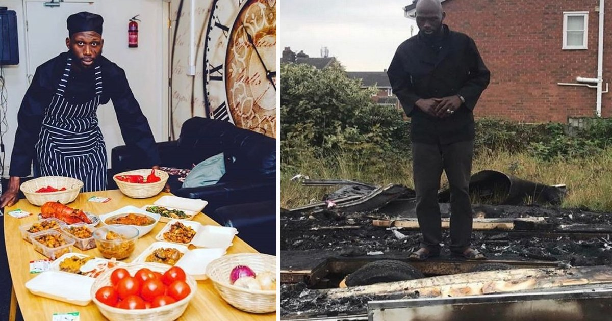 dfsdfs.jpg?resize=1200,630 - Black Food Truck Owner Receives£40,000 Donations After Racists Burn Down Trailer