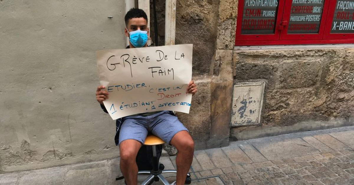 etudiant.png?resize=1200,630 - Montpellier : Après 5 jours de grève de la faim, un étudiant trouve enfin une place en master