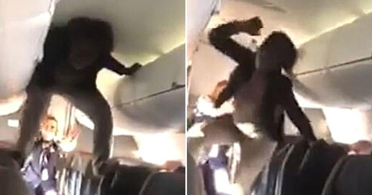 flight5.jpg?resize=412,232 - Woman's Exorcist-Style Meltdown Aboard Plane Caught On Camera