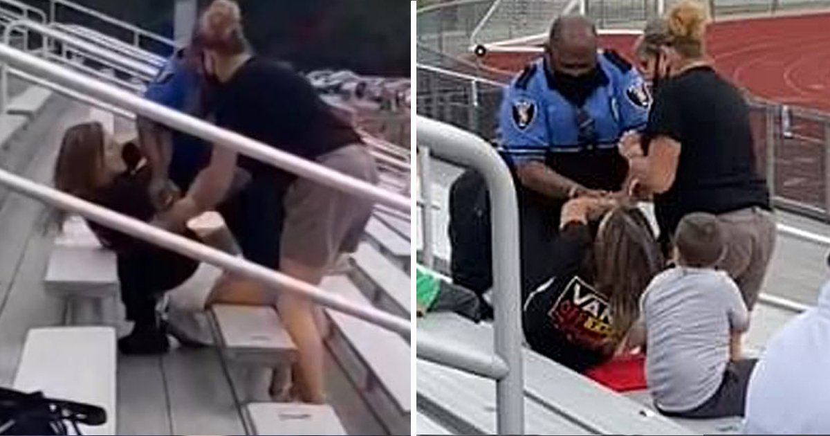 ggssdf.jpg?resize=412,232 - Woman Tased And Arrested In Jr. School Football Game For Not Wearing Face Mask