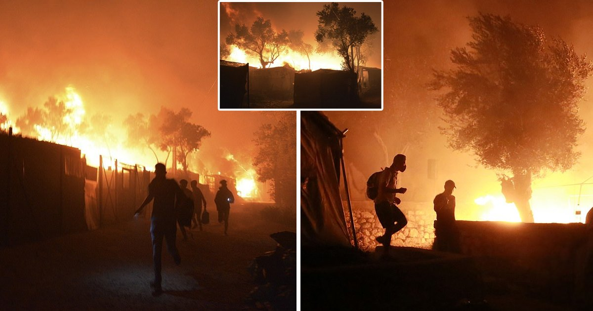 greece.jpg?resize=1200,630 - Fire At The Europe's Largest Refugee Camp in Greece, Leaving 13,000 Without Shelter