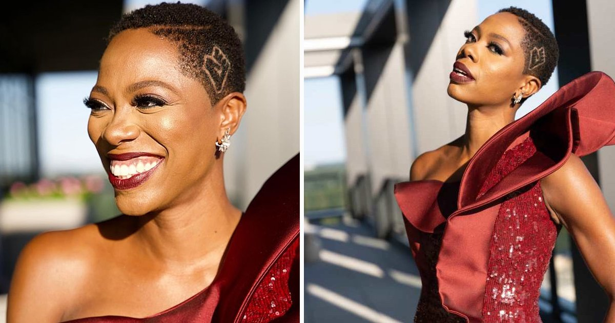 gsgs.jpg?resize=1200,630 - Emmy Fashion Takes Unique Turn As Actress Yvonne Orji Gets BLM Fist Shaved On Head