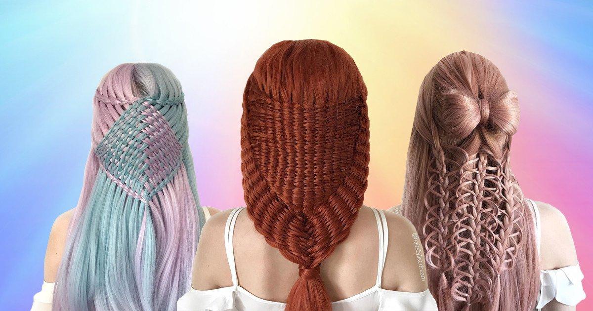 hair4 0af4.jpg?resize=1200,630 - Une adolescente crée les coiffures les plus complexes