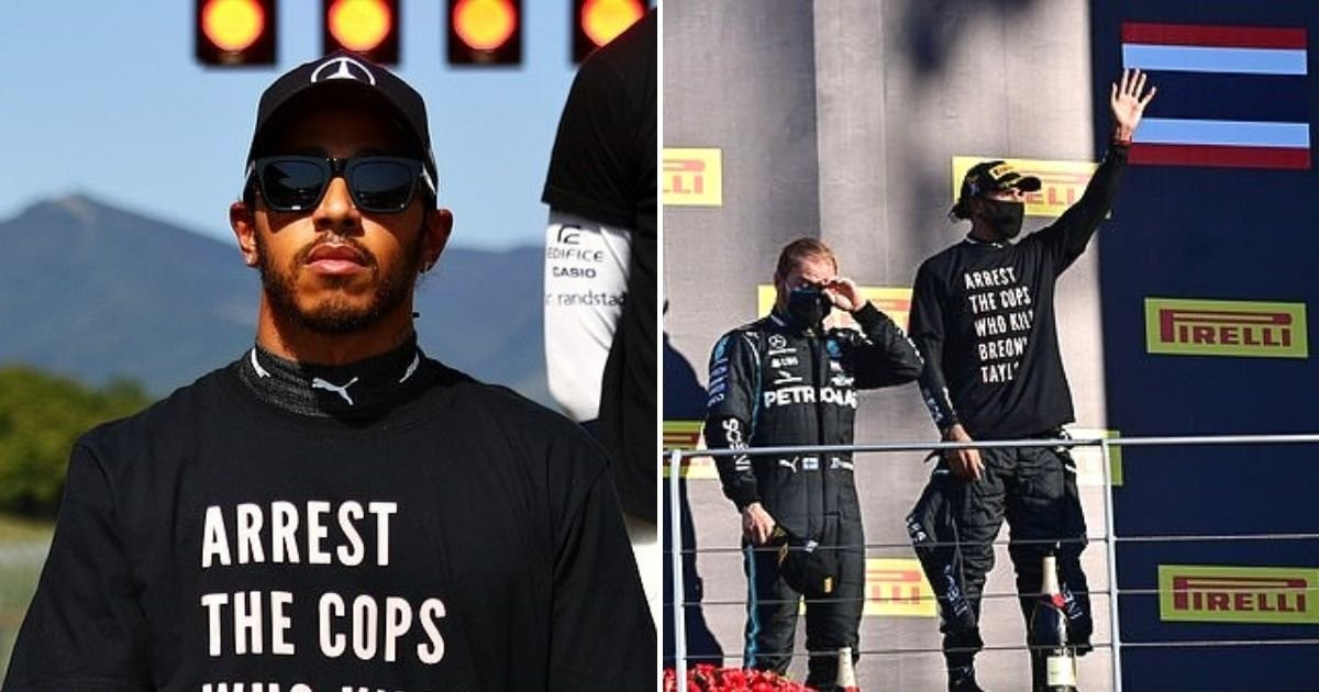 hamilton5.jpg?resize=412,232 - Lewis Hamilton Faces Investigation For Sporting T-Shirt Demanding The Arrest Of Cops Involved In A High-Profile Police Shooting