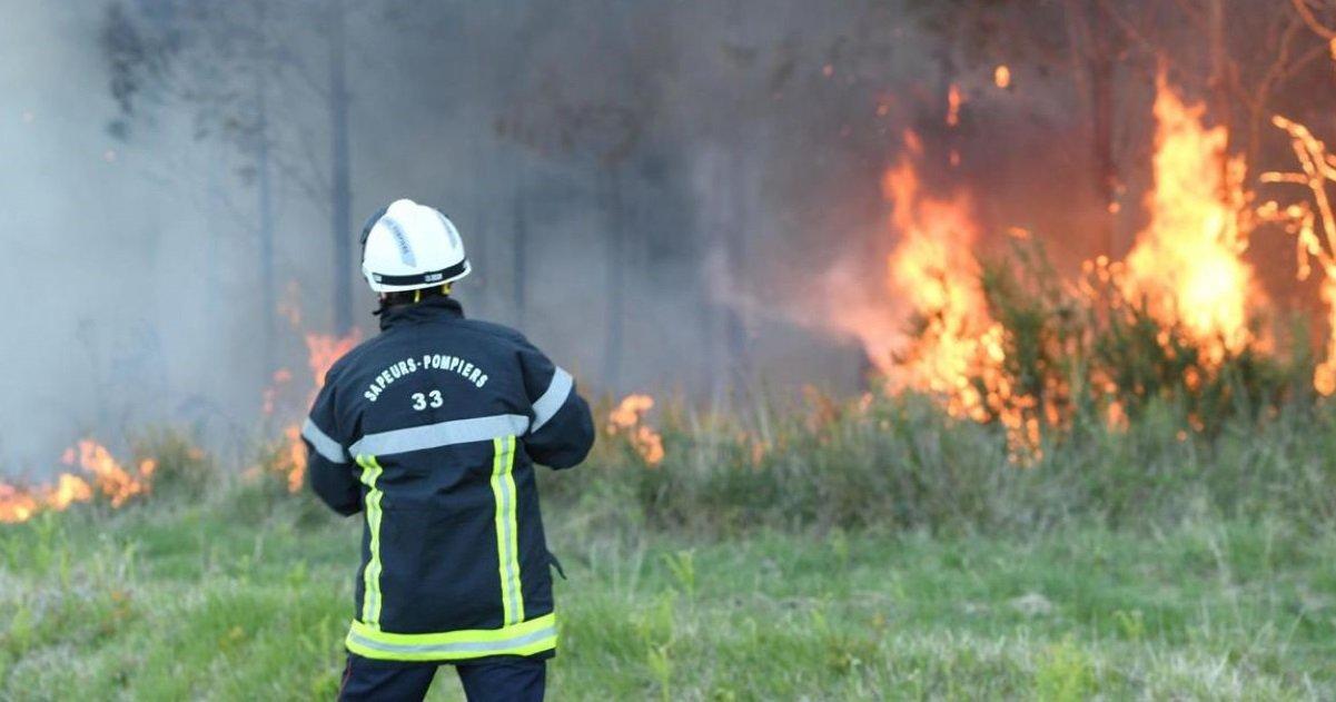incendie.jpg?resize=1200,630 - Un incendie a brûlé 450 hectares de végétation en Gironde et dans les Landes