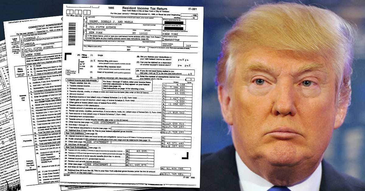 leaked donald trump s tax records obtained by new york times e1601342407982.jpg?resize=412,275 - Etats-Unis : Les déclarations d'impôt de Trump révélées par le Times