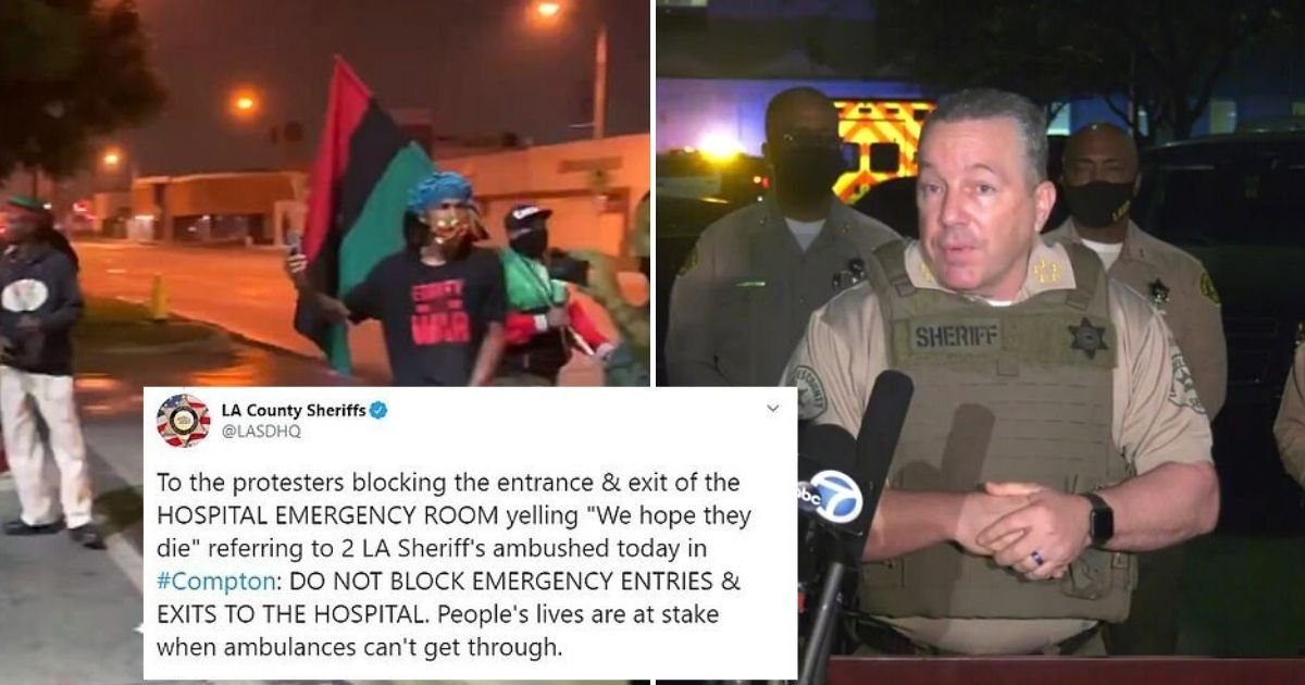 protests.jpg?resize=1200,630 - Protesters Block The Entrance Of Emergency Room Where Two Officers Are Fighting For Their Lives
