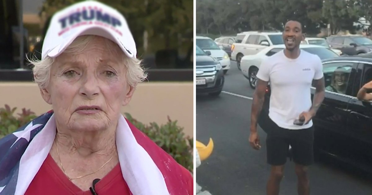sdfsdfss 1.jpg?resize=1200,630 - Violence Grips MAGA Rally As Man Brutally Punches 84-Year-Old Presidential Fan