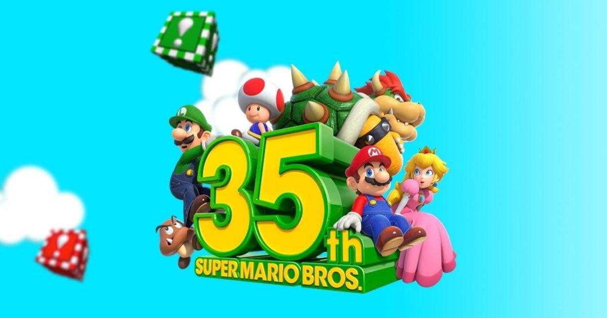 super mario bros 35th anniversary logo e1599444693738.jpg?resize=412,232 - Pour le 35e anniversaire de Super Mario Bros. Nintendo sort des jeux inédits