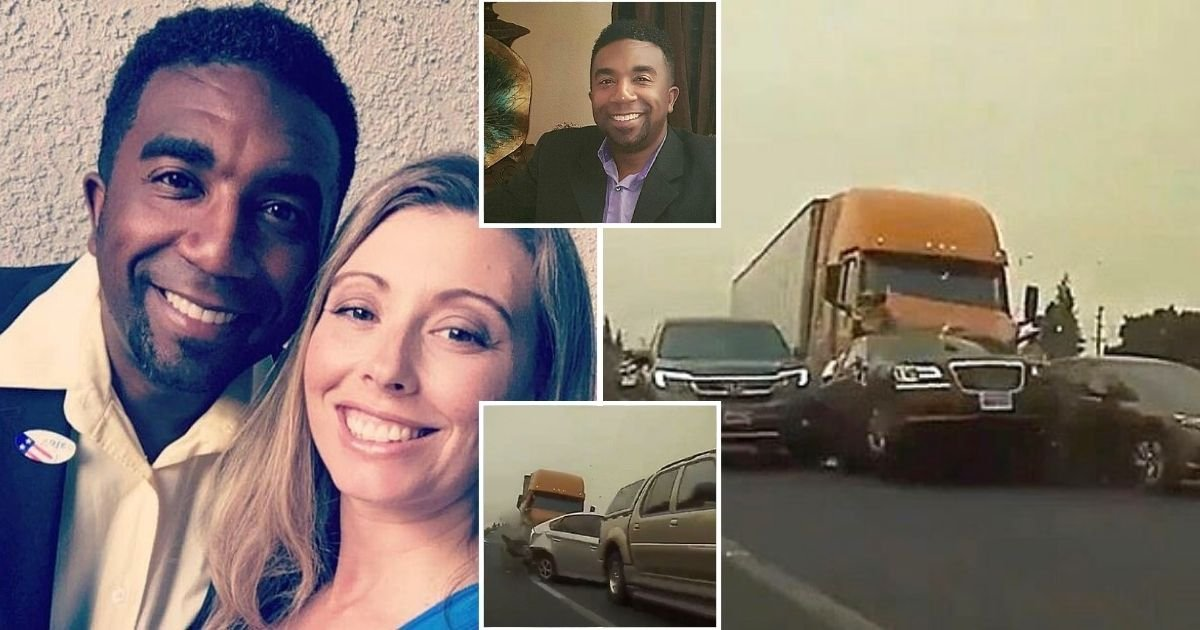 truck7.jpg?resize=1200,630 - Truck Plows Into 11 Cars And Kills A Father-Of-Four As Police Try To Determine Why The Driver Didn't Slow Down