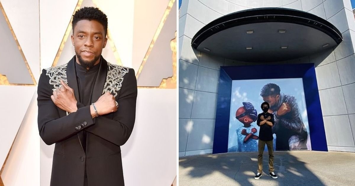 untitled design 4 20.jpg?resize=412,232 - Disney Honors Black Panther's Chadwick Boseman With A Powerful Mural
