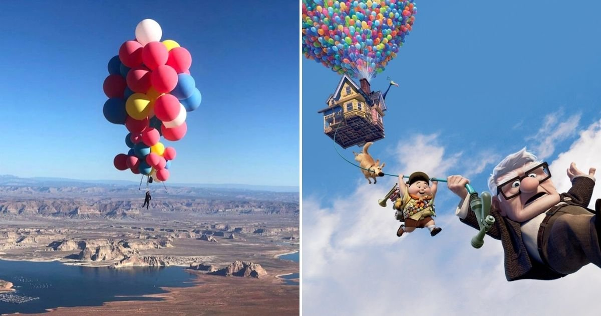up2.jpg?resize=1200,630 - Man Floats More Than 24,000 Feet Above Arizona Desert Held Up By Balloons