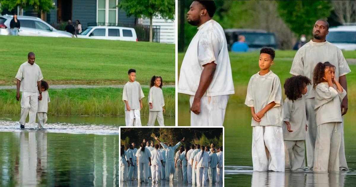 wesst.jpg?resize=412,232 - Kim Kardashian's New Video Shows Kanye West 'Walking On Water' During Sunday Service