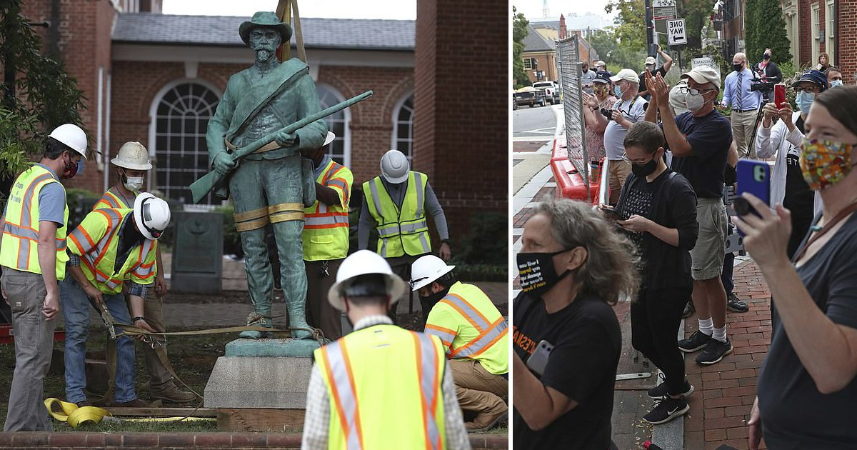 ylfijk.jpg?resize=1200,630 - Charlottesville Takes Down The Confederate Statue, 111 Years After It Was First Erected