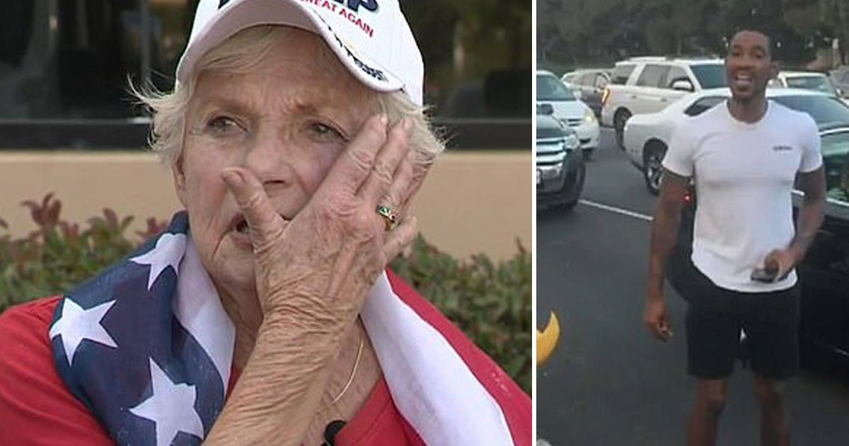 ywtsgh.jpg?resize=1200,630 - An 84-Year-Old Elderly Woman Was Punched At MAGA Rally By A Knife-Wielding Man