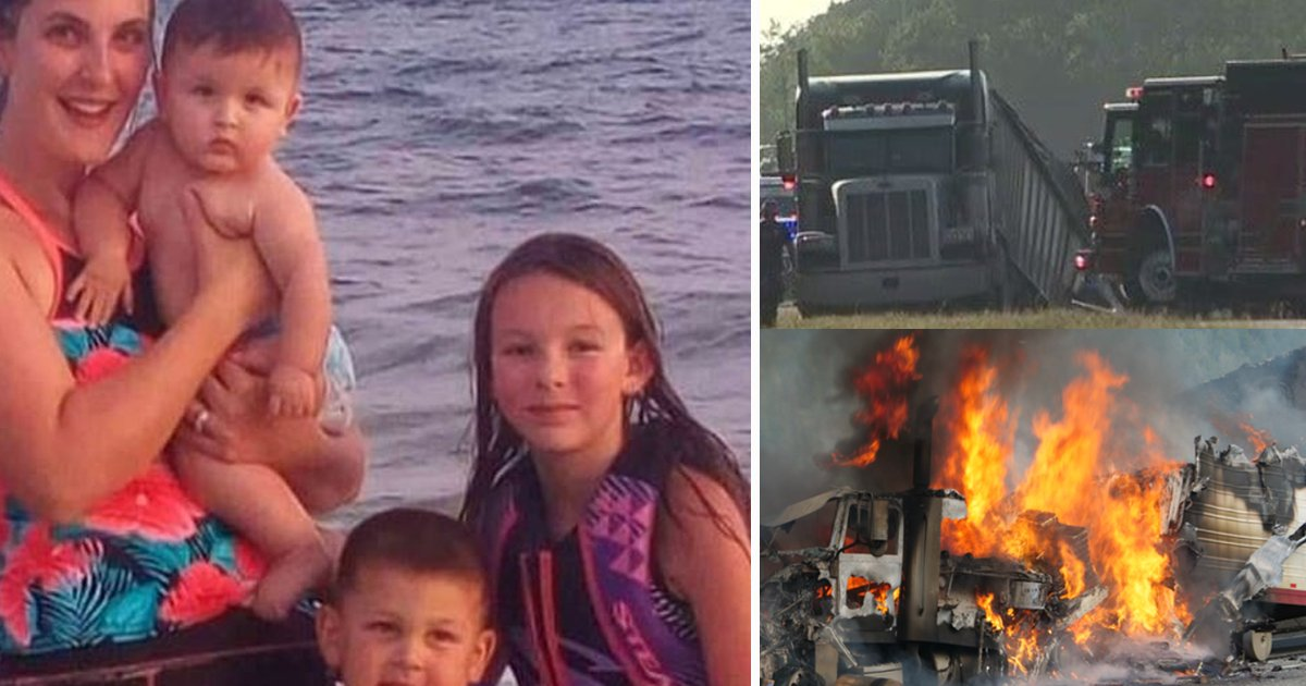 aadf.jpg?resize=412,232 - Horror Crash Kills Mother And Her 4 Children As Trailer Smashes And Splits SUV In Two