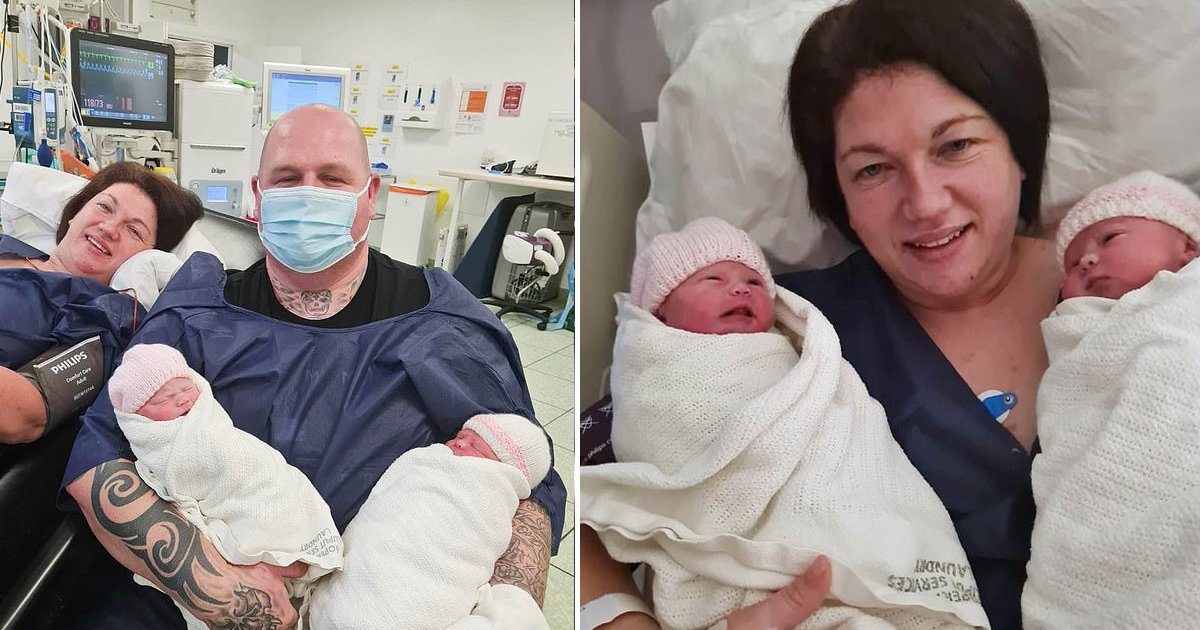 afda.jpg?resize=1200,630 - Mother Of 5 Gives Birth To 'Miracle Twins' Despite 10 Day COVID-19 Induced Coma Stay